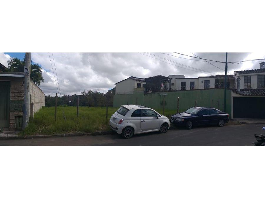 vendo terreno en zona 15