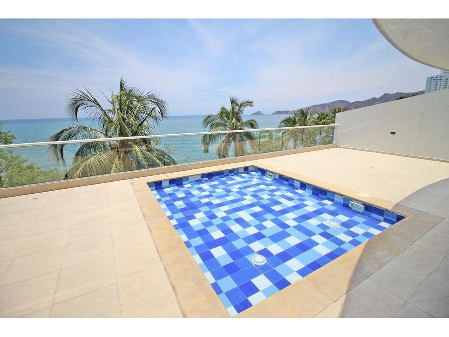 venta apartamento amoblado playa santa marta