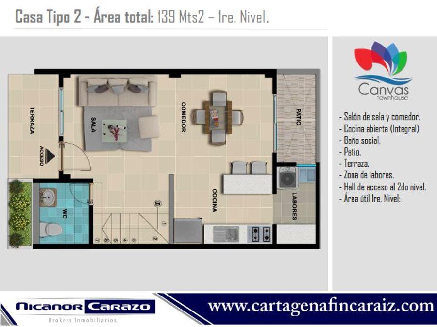 vendemos casa town house en crespo cartagena