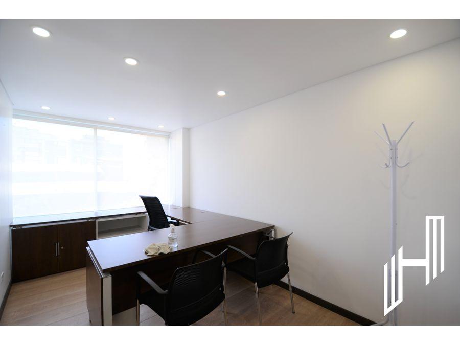 moderna oficina con terraza en arriendo rosales