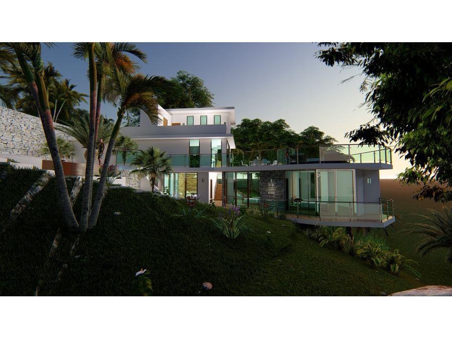 villa de venta en construccion en las terrenas
