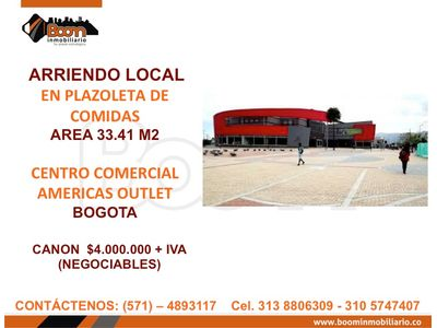 *ARIENDO LOCAL COMIDAS EN CC AMERICAS OUTLET
