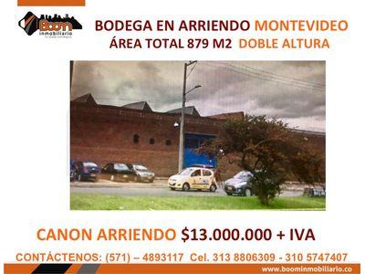 **ARRIENDO BODEGA 879 M2 MONTEVIDEO