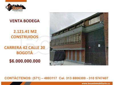 **VENTA BODEGA 2.121 M2 AV. LAS AMERICAS