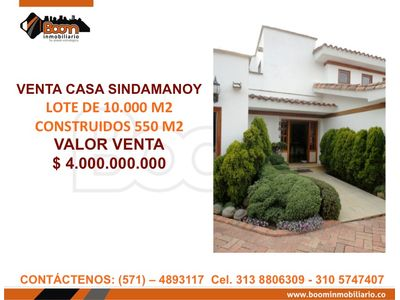 **VENTA CASA SINDAMANOY $4.000 MM