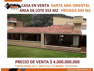 **VENTA CASA SANTA ANA ORIENTAL 494 M2