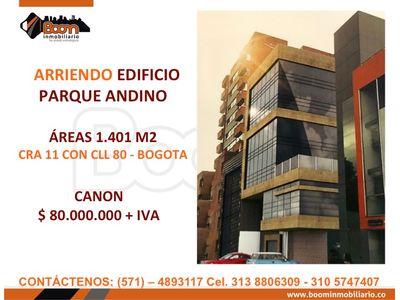 **ARRIENDO EDIFICIO NUEVO 1.401 M2 CRA 11 ANDINO
