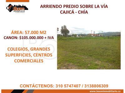 *ARRIENDO PREDIO COMERCIAL SOBRE VIA 57.000 M2