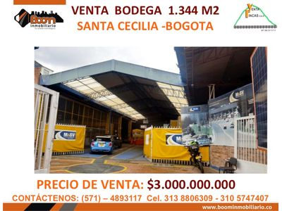 **VENTA BODEGA NORTE DE BOGOTA 1.344 M2