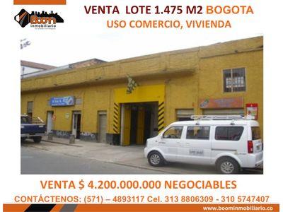 **VENTA LOTE PARQUEADERO 1.475 M2 CENTRO