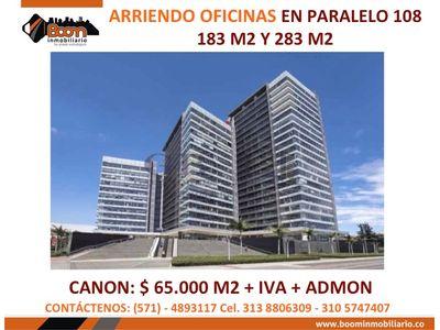 **ARRIENDO OFICINAS PARALELO 108 AUTONORTE