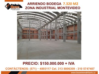 **ARRIENDO BODEGA 7.320 M2 MONTEVIDEO