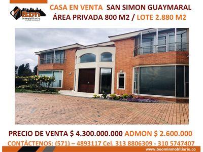 *VENTA CASA SAN SIMON 800 M2
