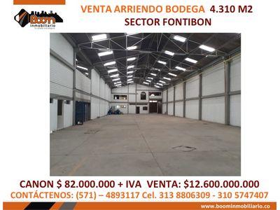 **VENTA ARRIENDO BODEGA FONTIBON 4.100 M2