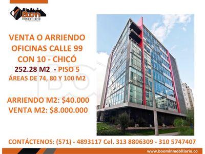 *VENTA ARRIENDO OFICINAS CLL 99 CHICO