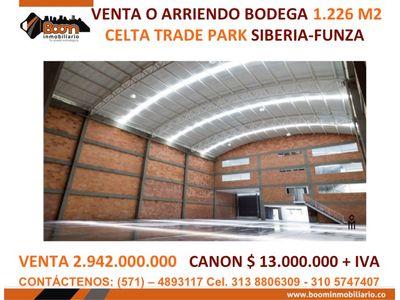 *VENTA ARRIENDO BODEGA CELTA 1.226 M2