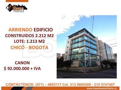 **ARRIENDO EDIFICIO OFICINAS 2.212 M2 EN EL CHICO