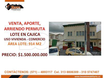 *VENTA, ARRIENDO PREDIO 914 M2 CAJICA
