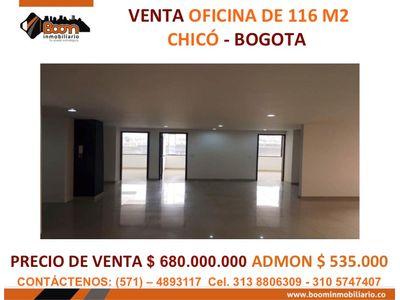 **VENTA OFICINA CHICO 116 M2