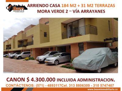 **ARRIENDO CASA MORA VERDE 184 M2 + TERRAZA