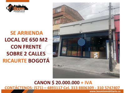 *ARRIENDO LOCAL 650 M2 SECTOR SAN ANDRESITO