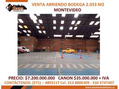 **VENTA ARRIENDO BODEGA MONTEVIDEO 2.033 M2