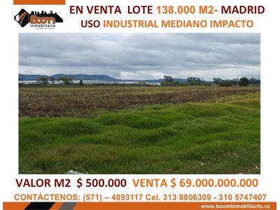 *VENTA LOTE INDUSTRIAL 138.000 M2 EN MADRID