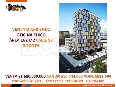 **VENTA ARRIENDO OFICINA CHICO 162 M2