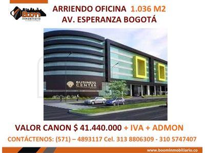 *ARRIENDO OFICNA 1.036 M2 CERCA AV EL DORADO