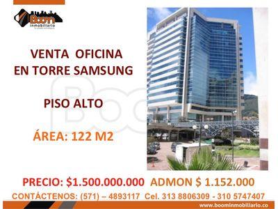 **VENTA OFICINA 122 M2 RENTANDO EN TORRE SAMSUNG