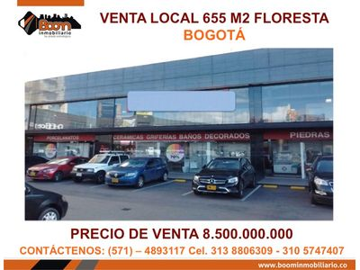 **VENTA LOCAL AV 68 FLORESTA 655 M2