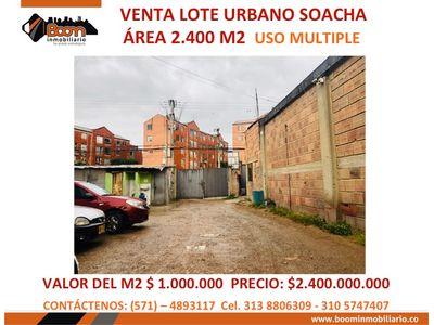 *VENTA LOTE VIVIENDA COMERCIO 2.400 M2 SOACHA