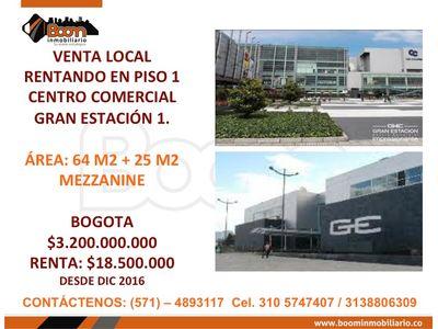 *VENTA LOCAL 64M2  RENTANDO GRAN ESTACION