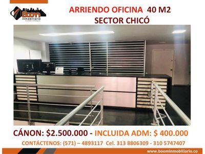 *ARRIENDO OFICINA 40 M2 CHICO