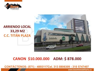 *ARRIENDO LOCAL COMERCIAL 33 M2 TITAN PLAZA