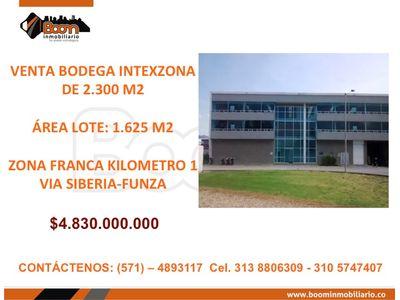 *VENTA BODEGA 2.300 M2 ZONA FRANCA INTEXZONA