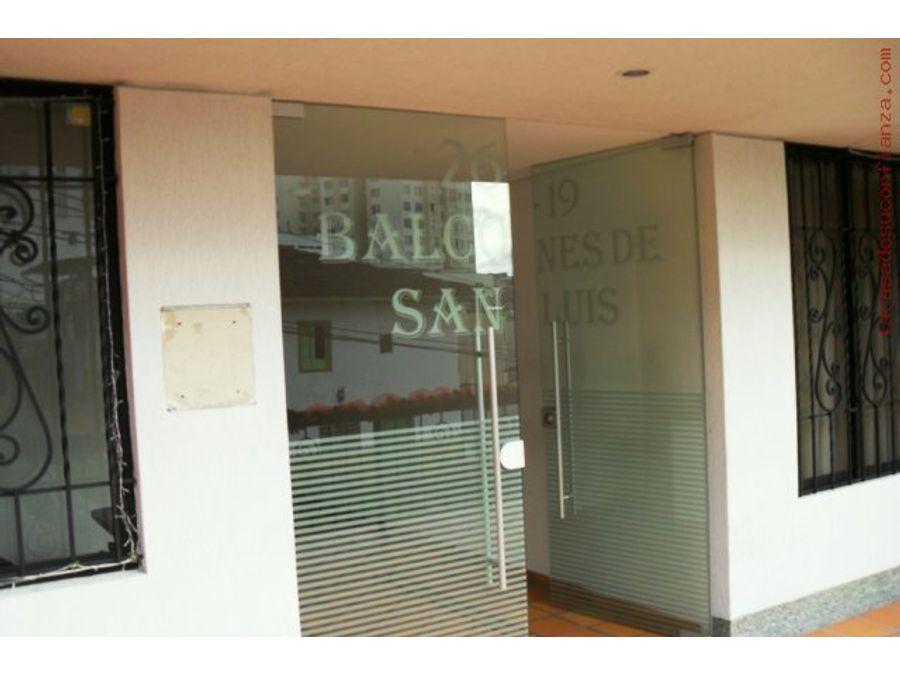 venta apartaestudio sector san luis manizales
