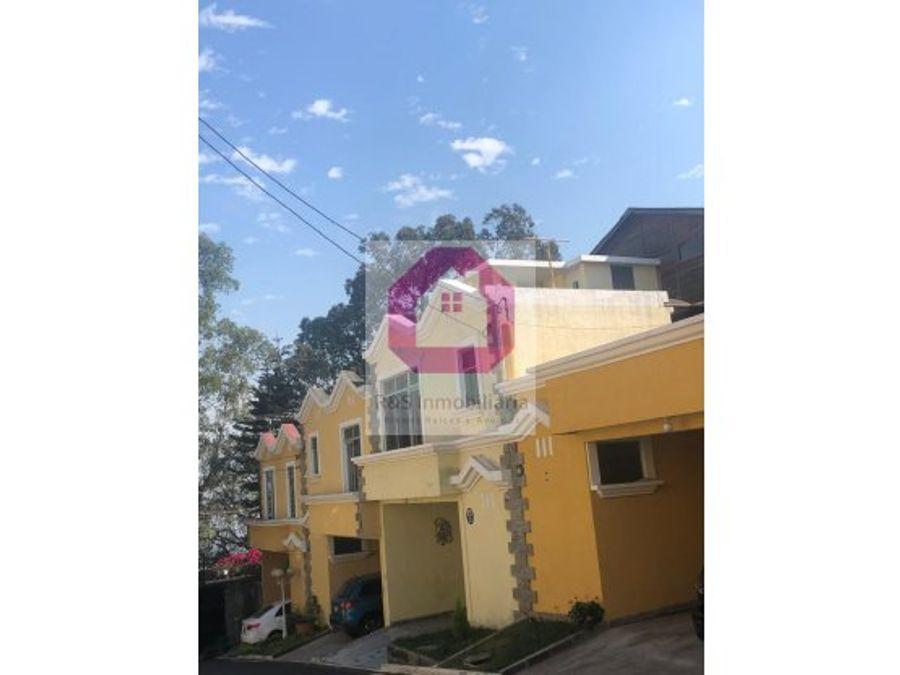 casa en venta en cd primavera 1 zona 1 mixco