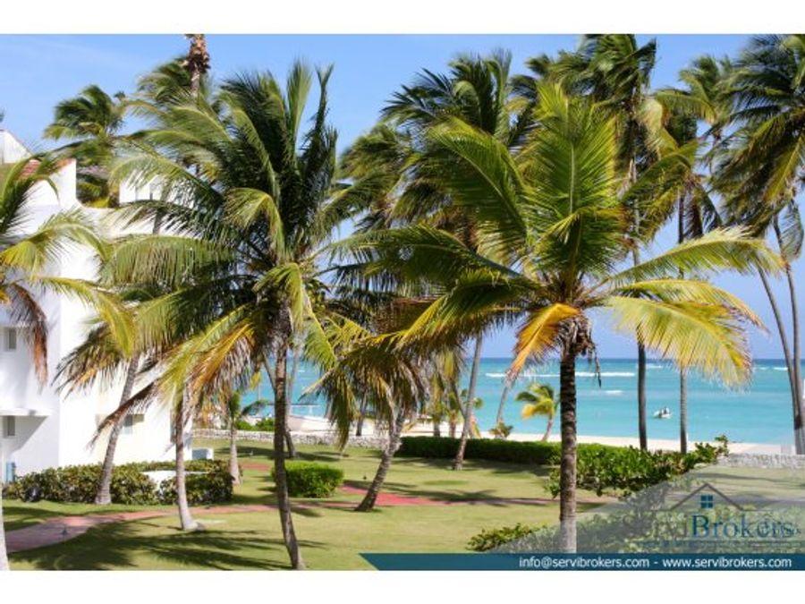 apto con playa privada 3 hab serv en punta cana