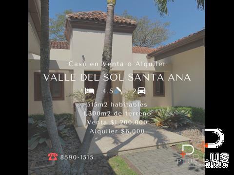casa venta o alquiler valle del sol santa ana jv35