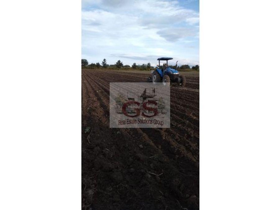 terreno en venta juventino rosas los pozos 20has