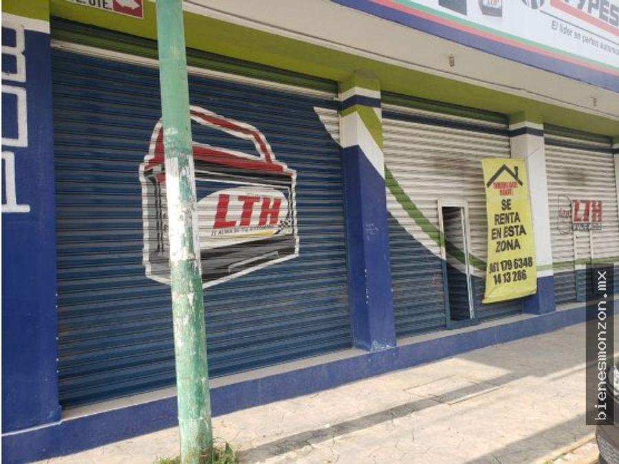 local comercial en renta tuxtla bien ubicado