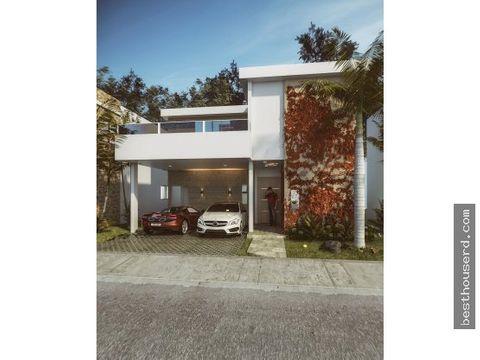 hermosa villa en venta en punta cana