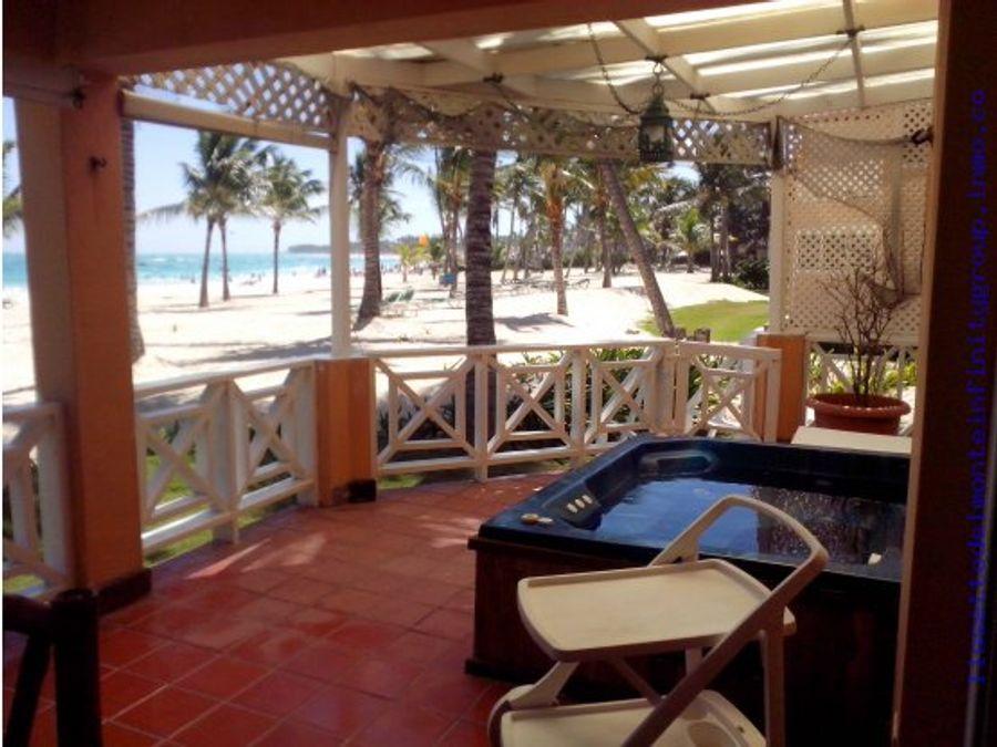 villa 1era linea de playa bavaro