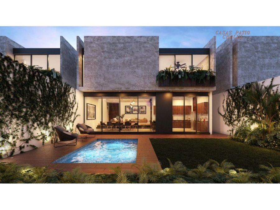 casa patio cholul en venta