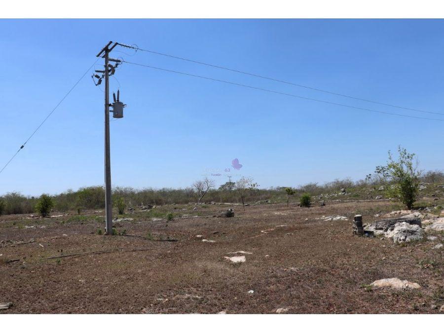 terreno en venta en tepich a 7 min de merida
