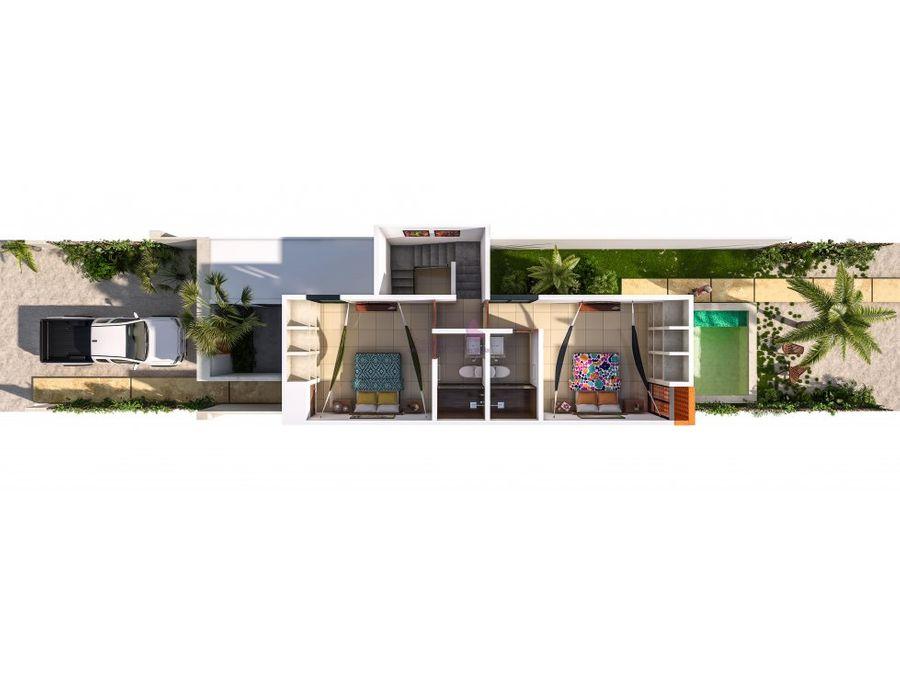 casa tipo town house en venta en chicxulub puerto