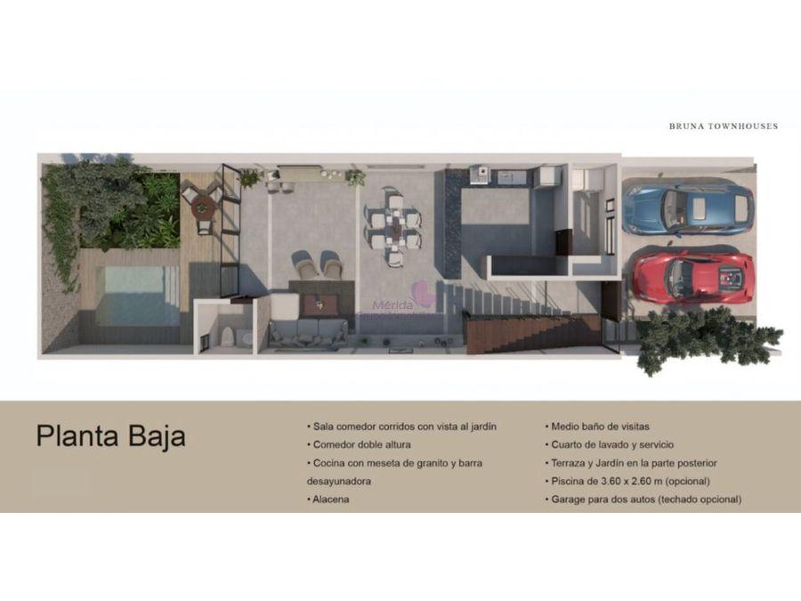 cholul merida town houses en venta nuevos