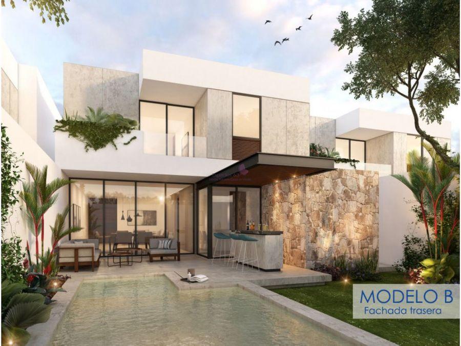 casa en venta equipada en temozon norte merida