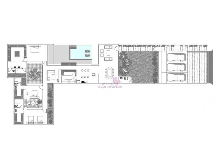 casa de una planta en venta en cholul merida